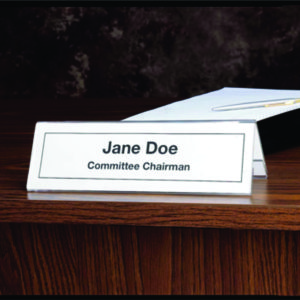 Seminar Desk/Place Card Holder