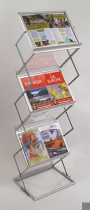 Exhibition Display Stands Nz : Mobile literature display stand sided a dr display